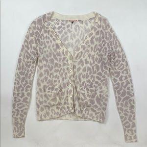 Rebecca Taylor Cheetah Print Cardigan